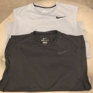 Set of 2 • Nike Dri-Fit sleeveless 🏀 tees MENS L